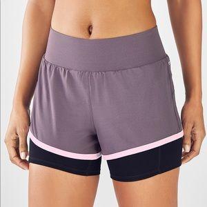 Fabletics Olesia Mid Rise Running Shorts